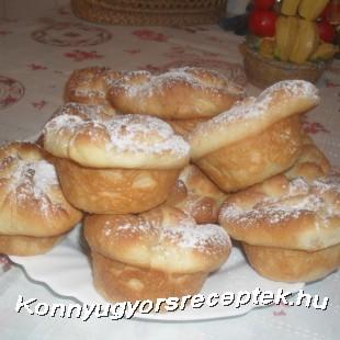 Túrós táska muffin recept