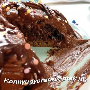 Háromszínű csokitorta recept