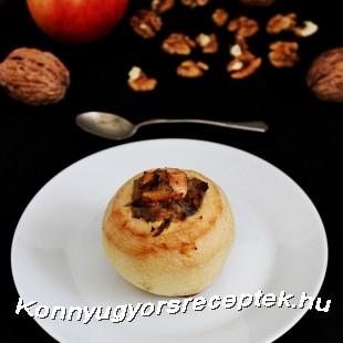 Sült alma diós töltelékkel recept