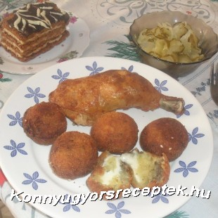 Sajtos krumpli golyók recept