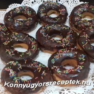 Amerikai  csokis fánk recept