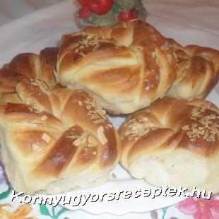 Vajas ( mini) kalács koszorú recept