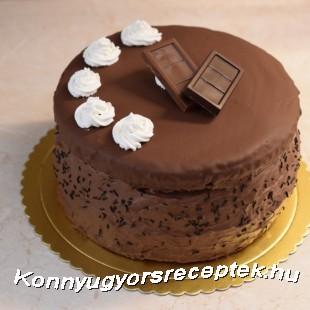 Gigászi csokitorta recept