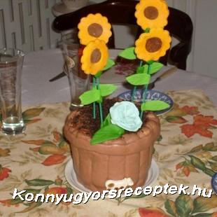 Virágcserép  recept