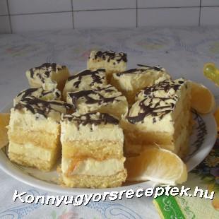 Narancskrémes kocka recept