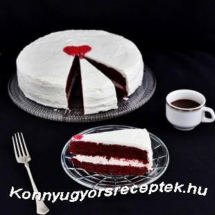 Red Velvet torta (Vörös bársony torta) recept