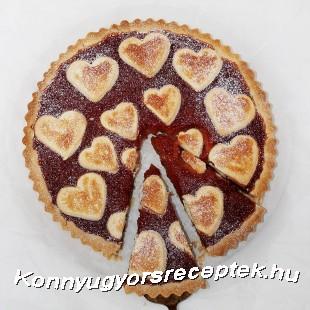 Valentin napi diós-lekváros pite recept