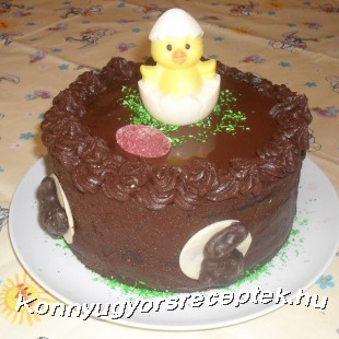 Húsvéti csokitorta recept