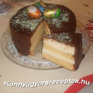 Madártej torta recept