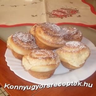Kókuszkrémes muffin recept