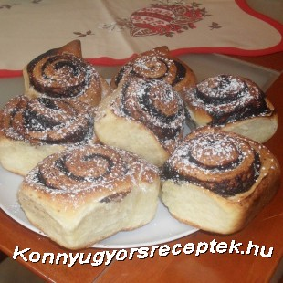 Kakaós csiga ( Tangzhongal) recept