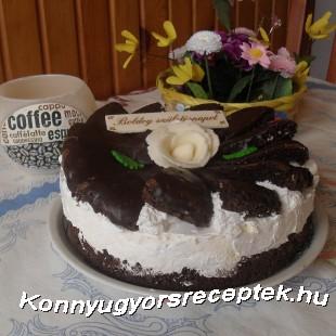 Tejszínes túrókrém torta recept