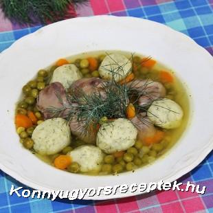 Citromos zöldborsóleves kapros krumpligombóccal recept