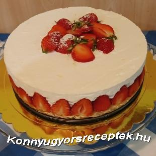 Bodzás -epres joghurttorta recept