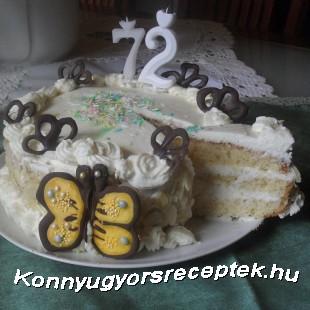 Mascarponés citrom torta recept