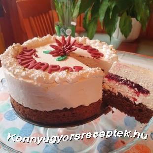 Fehér csokis mousse torta gyümölcszselével  recept