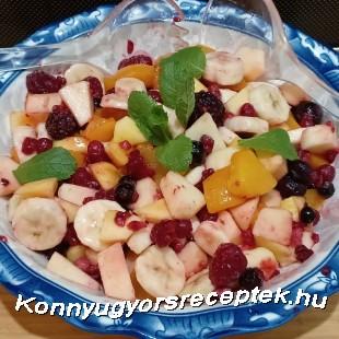 Mentás gyümölcs saláta  recept