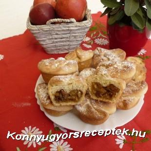 Almás batyu muffin recept