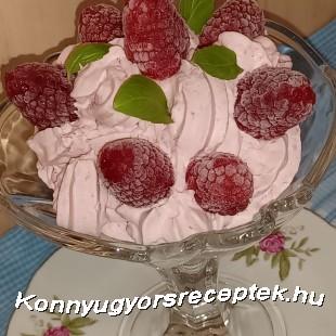 Málnás ,túrós,joghurtos pohárkrém recept