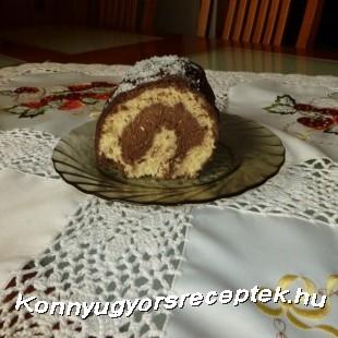 Kókusz-csokikrémes tekercs recept