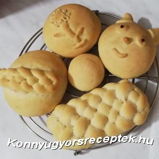Japán tejes zsemle recept