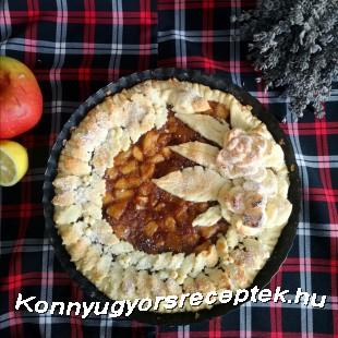 Glutén és laktózmentes almás pite  recept