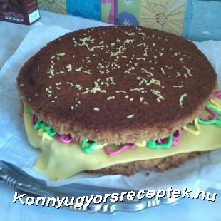 Hamburger torta mézes puszedliból  recept