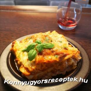 Vörösboros lasagne Zé-től recept