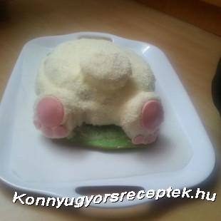 Vörösbársony nyuszi torta recept