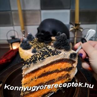 Sütőtökös Halloween torta recept