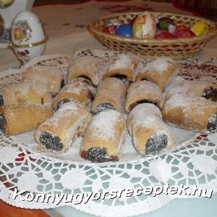 Omlós lekváros ( diós-mákos) rudacska  recept