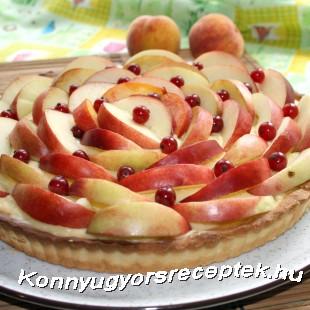 Vaníliakrémes torta (barackos) recept