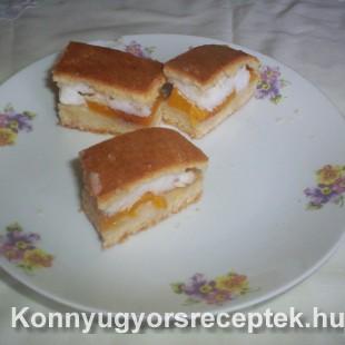 Habos-barackos sütemény recept