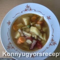 Krumpli leves recept