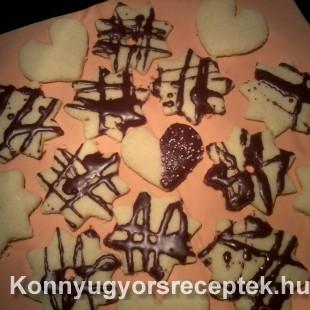 Csokis-kókuszos aprósüti recept