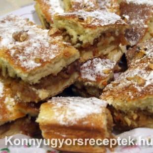 Almás pite dióval recept