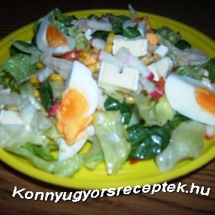 Saláta Camambert sajttal recept