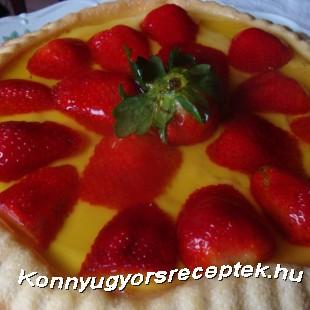 Epres gyümölcstorta recept