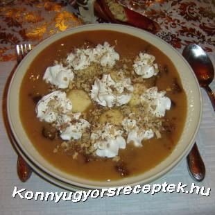 Aszalt szilva leves édes grízgaluskával recept