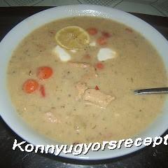 Tárkonyos pulykaragu leves recept