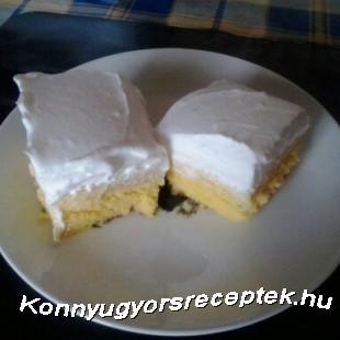 Narancskrémes-tejszínes szelet recept