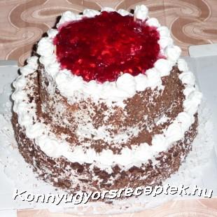Egyszerűbb Fekete - Erdő torta recept