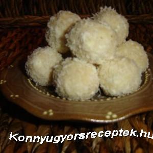 Kókuszos túrógolyó recept