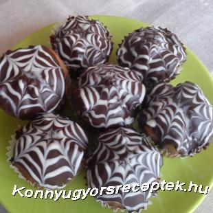 Pókhálós muffin recept
