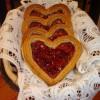Marcipános linzer szív